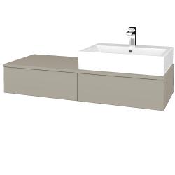 Dreja - Kúpeľňová skrinka MODULE SZZ2 120 - L04 Béžová vysoký lesk / L04 Béžová vysoký lesk / Pravé (314477P)
