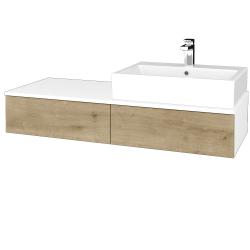 Dreja - Kúpeľňová skrinka MODULE SZZ2 120 - N01 Bílá lesk / D09 Arlington / Pravé (314583P)