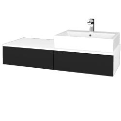Dreja - Kúpeľňová skrinka MODULE SZZ2 120 - N01 Bílá lesk / N08 Cosmo / Pravé (314712P)