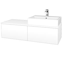 Dreja - Kúpeľňová skrinka MODULE SZZ12 120 - N01 Bílá lesk / M01 Bílá mat / Levé (315108)