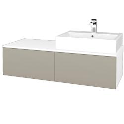 Dreja - Kúpeľňová skrinka MODULE SZZ12 120 - N01 Bílá lesk / L04 Béžová vysoký lesk / Levé (315146)