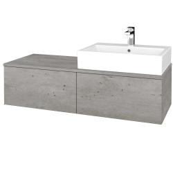 Dreja - Kúpeľňová skrinka MODULE SZZ12 120 - D01 Beton / D01 Beton / Pravé (315252P)