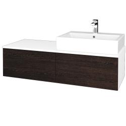Dreja - Kúpeľňová skrinka MODULE SZZ12 120 - N01 Bílá lesk / D08 Wenge / Pravé (315511P)