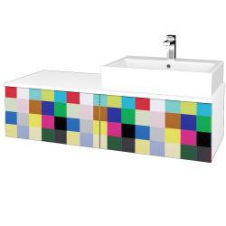 Dreja - Kúpeľňová skrinka MODULE SZZ12 120 - N01 Bílá lesk / IND Individual / Pravé (315597P)