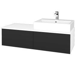 Dreja - Kúpeľňová skrinka MODULE SZZ12 120 - N01 Bílá lesk / N03 Graphite / Pravé (315627P)