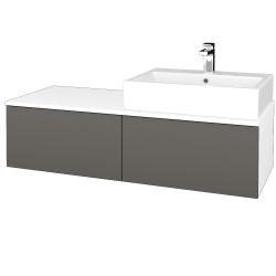 Dreja - Kúpeľňová skrinka MODULE SZZ12 120 - N01 Bílá lesk / N06 Lava / Pravé (315634P)