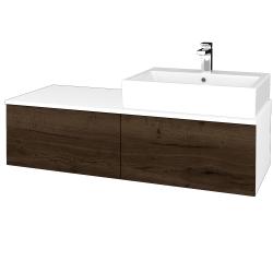 Dreja - Kúpeľňová skrinka MODULE SZZ12 120 - N01 Bílá lesk / D21 Tobacco / Pravé (315719P)