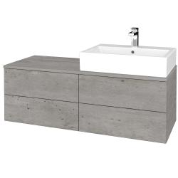 Dreja - Kúpeľňová skrinka MODULE SZZ4 120 - D01 Beton / D01 Beton / Levé (315726)