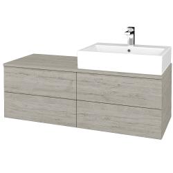 Dreja - Kúpeľňová skrinka MODULE SZZ4 120 - D05 Oregon / D05 Oregon / Levé (315764)