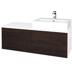 Dreja - Kúpeľňová skrinka MODULE SZZ4 120 - N01 Bílá lesk / D08 Wenge / Levé (315986)