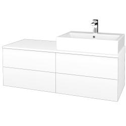 Dreja - Kúpeľňová skrinka MODULE SZZ4 120 - N01 Bílá lesk / M01 Bílá mat / Levé (316044)