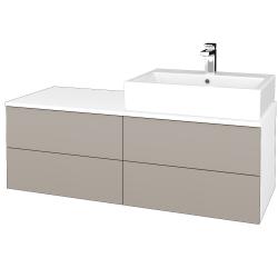 Dreja - Kúpeľňová skrinka MODULE SZZ4 120 - N01 Bílá lesk / N07 Stone / Levé (316112)