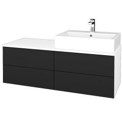 Dreja - Kúpeľňová skrinka MODULE SZZ4 120 - N01 Bílá lesk / L03 Antracit vysoký lesk / Pravé (316549P)