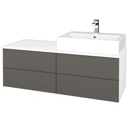 Dreja - Kúpeľňová skrinka MODULE SZZ4 120 - N01 Bílá lesk / N06 Lava / Pravé (316570P)