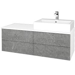 Dreja - Kúpeľňová skrinka MODULE SZZ4 120 - N01 Bílá lesk / D20 Galaxy / Pravé (316648P)