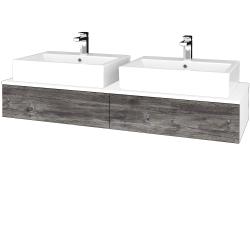 Dreja - Kúpeľňová skrinka MODULE SZZ2 140 - N01 Bílá lesk / D10 Borovice Jackson (316945)