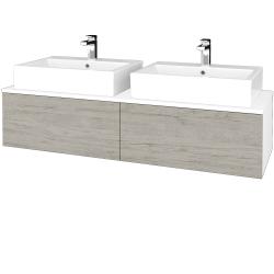 Dreja - Kúpeľňová skrinka MODULE SZZ12 140 - N01 Bílá lesk / D05 Oregon (317379)