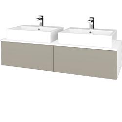 Dreja - Kúpeľňová skrinka MODULE SZZ12 140 - N01 Bílá lesk / L04 Béžová vysoký lesk (317492)