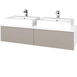 Dreja - Kúpeľňová skrinka MODULE SZZ12 140 - N01 Bílá lesk / N07 Stone (317522)