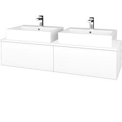 Dreja - Kúpeľňová skrinka MODULE SZZ12 140 - N01 Bílá lesk / L01 Bílá vysoký lesk (317546)