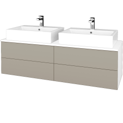 Dreja - Kúpeľňová skrinka MODULE SZZ4 140 - N01 Bílá lesk / M05 Béžová mat (317935)