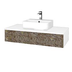Dreja - Kúpeľňová skrinka MODULE SZZ 100 - N01 Bílá lesk / J01 Organic (318673)