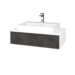 Dreja - Kúpeľňová skrinka MODULE SZZ 80 - N01 Bílá lesk / D16 Beton tmavý (332983)