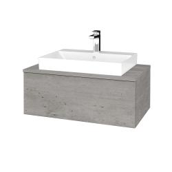 Dreja - Kúpeľňová skrinka MODULE SZZ1 80 - D01 Beton / D01 Beton (333157)