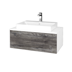 Dreja - Kúpeľňová skrinka MODULE SZZ1 80 - N01 Bílá lesk / D10 Borovice Jackson (333430)