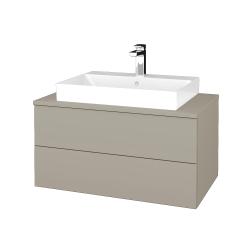 Dreja - Kúpeľňová skrinka MODULE SZZ2 80 - L04 Béžová vysoký lesk / L04 Béžová vysoký lesk (333782)
