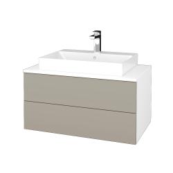 Dreja - Kúpeľňová skrinka MODULE SZZ2 80 - N01 Bílá lesk / M05 Béžová mat (333959)