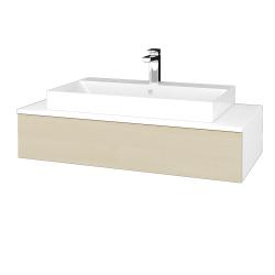 Dreja - Kúpeľňová skrinka MODULE SZZ 100 - N01 Bílá lesk / D02 Bříza (334307)