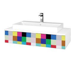 Dreja - Kúpeľňová skrinka MODULE SZZ 100 - N01 Bílá lesk / IND Individual (334437)