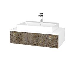 Dreja - Kúpeľňová skrinka MODULE SZZ 80 - N01 Bílá lesk / J01 Organic (334567)