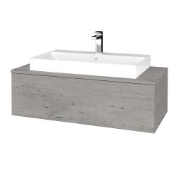 Dreja - Kúpeľňová skrinka MODULE SZZ1 100 - D01 Beton / D01 Beton (334642)
