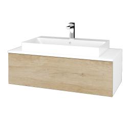 Dreja - Kúpeľňová skrinka MODULE SZZ1 100 - N01 Bílá lesk / D15 Nebraska (334932)