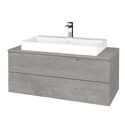 Dreja - Kúpeľňová skrinka MODULE SZZ2 100 - D01 Beton / D01 Beton (335144)