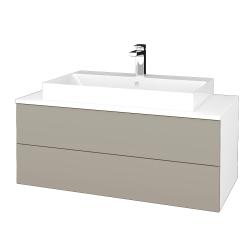Dreja - Kúpeľňová skrinka MODULE SZZ2 100 - N01 Bílá lesk / M05 Béžová mat (335472)