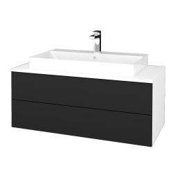 Dreja - Kúpeľňová skrinka MODULE SZZ2 100 - N01 Bílá lesk / L03 Antracit vysoký lesk (335496)
