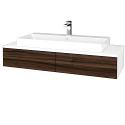 Dreja - Kúpeľňová skrinka MODULE SZZ2 120 - N01 Bílá lesk / D06 Ořech (335885)