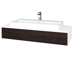 Dreja - Kúpeľňová skrinka MODULE SZZ2 120 - N01 Bílá lesk / D08 Wenge (335892)