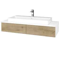 Dreja - Kúpeľňová skrinka MODULE SZZ2 120 - N01 Bílá lesk / D09 Arlington (335908)