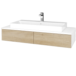 Dreja - Kúpeľňová skrinka MODULE SZZ2 120 - N01 Bílá lesk / D15 Nebraska (335922)