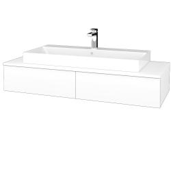 Dreja - Kúpeľňová skrinka MODULE SZZ2 120 - N01 Bílá lesk / M01 Bílá mat (335953)
