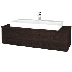 Dreja - Kúpeľňová skrinka MODULE SZZ12 120 - D08 Wenge / D08 Wenge (336202)