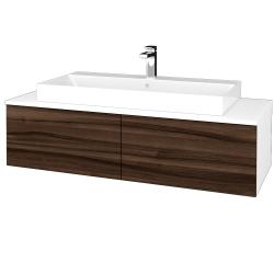 Dreja - Kúpeľňová skrinka MODULE SZZ12 120 - N01 Bílá lesk / D06 Ořech (336394)