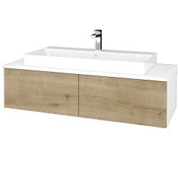 Dreja - Kúpeľňová skrinka MODULE SZZ12 120 - N01 Bílá lesk / D09 Arlington (336417)