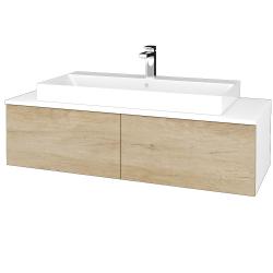 Dreja - Kúpeľňová skrinka MODULE SZZ12 120 - N01 Bílá lesk / D15 Nebraska (336431)
