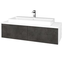 Dreja - Kúpeľňová skrinka MODULE SZZ12 120 - N01 Bílá lesk / D16 Beton tmavý (336448)