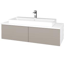 Dreja - Kúpeľňová skrinka MODULE SZZ12 120 - N01 Bílá lesk / N07 Stone (336530)